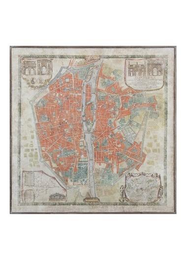 Warm Design Paris Haritası Duvar Dekoru Renkli